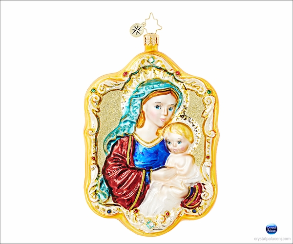 (SOLD OUT)  Mother and Child  Radko Christmas Ornament