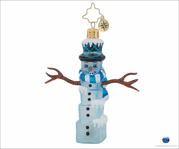 (SOLD OUT)  Mr. Frosty Cubes Gem Radko Christmas Ornament