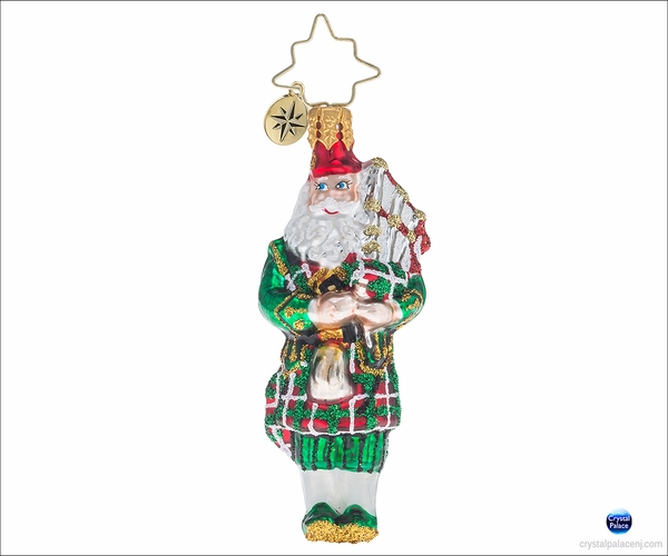 (SOLD OUT)  Christopher Radko Piper Piping Gem Christmas Ornament