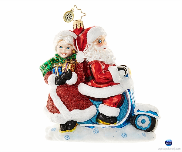 (SOLD OUT)  Christopher Radko Scooter for Two Christmas Ornament
