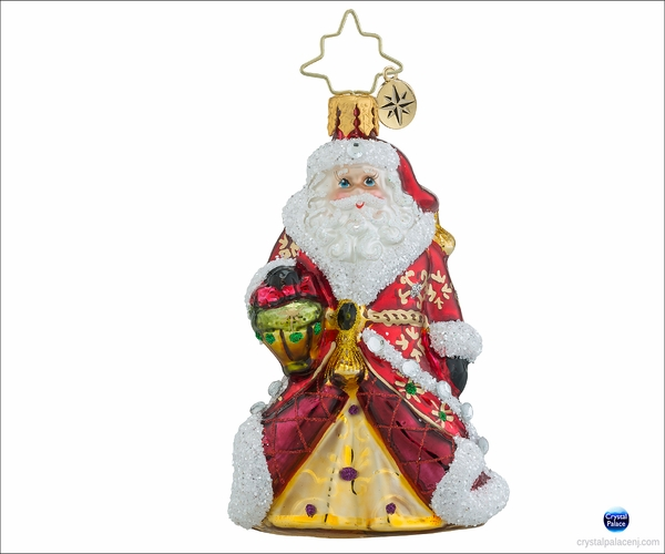 Christopher Radko Shimmering Santa Gem Christmas Ornament
