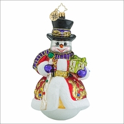 (SOLD OUT)  Christopher Radko Sir Scarlet Snow Christmas Ornament