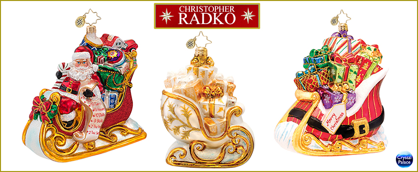 Sleigh Radko Christmas Ornaments