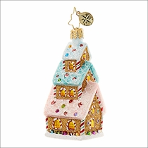 Tasty Triple Decker Little Gem   Radko Christmas Ornament