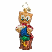 Christopher Radko Winter Wisdom Christmas Ornament