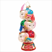 Circus Star Trio Radko  Ornament