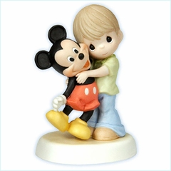 """Disney Boy With Mickey Figurine  """"You Are A Classic!"""""""