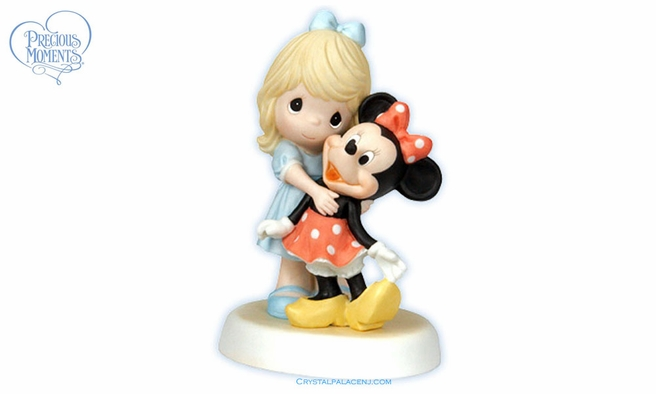 """Disney Girl With Minnie Figurine  """"You Are A Classic!"""""""