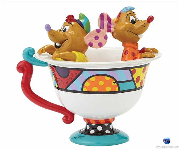 Disney Jaq & Gus in Tea Cup Figurine by Britto