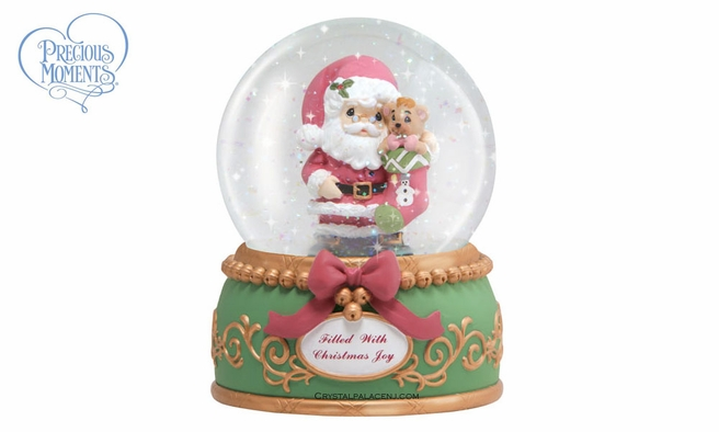 Filled With Christmas Joy 100mm Musical Water Globe