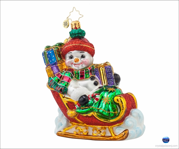 Frosty Sleighride Radko Ornament