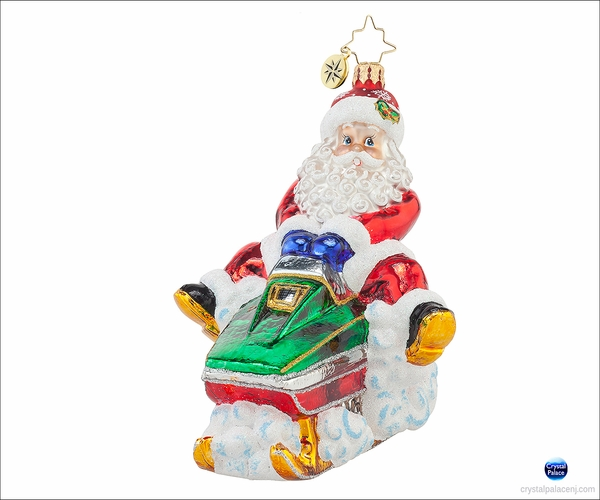 Ho-Ho Hold on Tight Radko Ornament