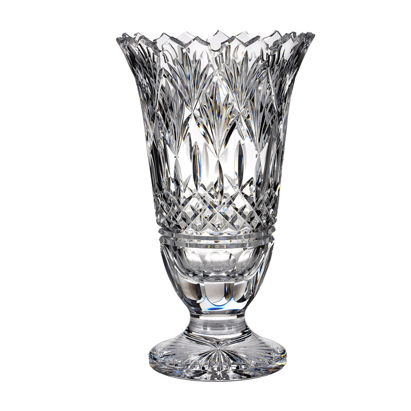 Waterford Jim Oleary Lismore Gate Footed Vase