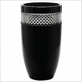 "(SOLD OUT) John Rocha Black Cut 12"" Vase"
