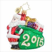 (SOLD OUT) Jolly Year Gem Radko Ornament