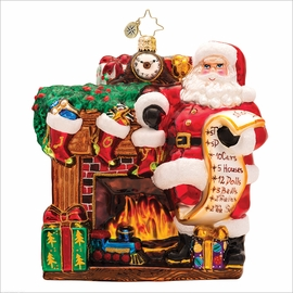 (SOLD OUT) Joyful Visit Radko Christmas Ornament
