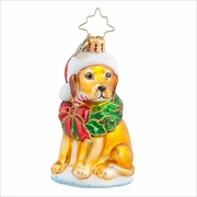 (SOLD OUT)  Labrador Lucky Golden Gem Radko Ornament