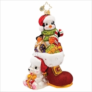 (SOLD OUT)  Lovable Duo Radko Christmas Ornament