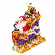 Many Miles To Go Radko Christmas Ornament