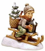 M.I.Hummel Ride Into Christmas Large Figurine   9.00""