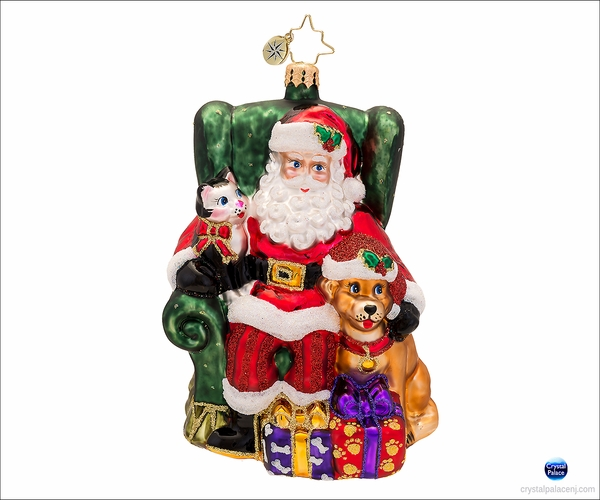 (SOLD OUT) Paws and Claus Radko  Christmas Ornament