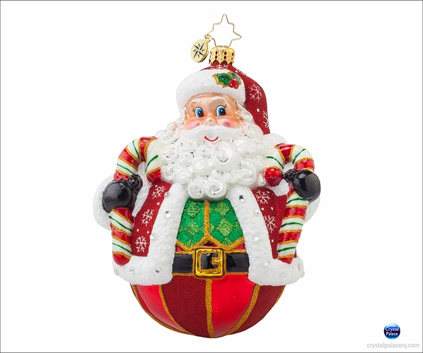 (SOLD OUT) Peppermint-Poly Claus Radko Ornament