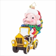 Pork Chop's Wild Ride Radko Ornament