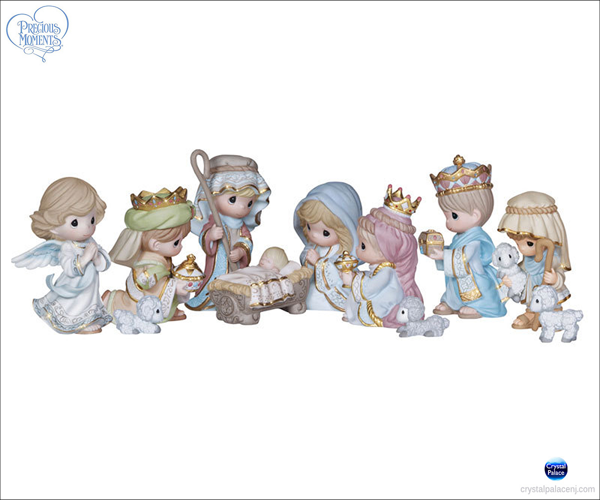 Precious Moments 11 Piece Mini Nativity Set