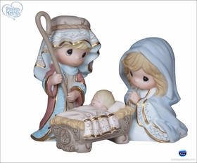 (SOLD OUT) Come Let Us Adore Him - 3 Piece Nativity Set