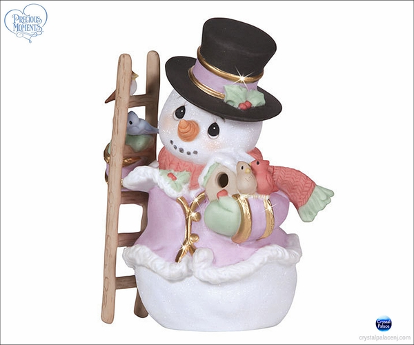Precious Moments Snow Place Like Home Snowman