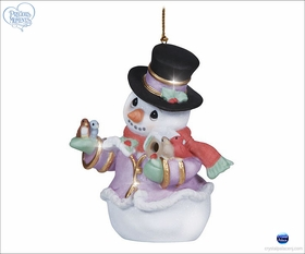Precious Moments Snow Place Like Home Snowman ornament