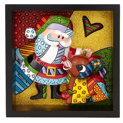 Rudolph & Santa Pop Art Block