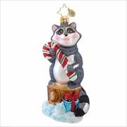 Rudy Raccoon Radko Christmas Ornament