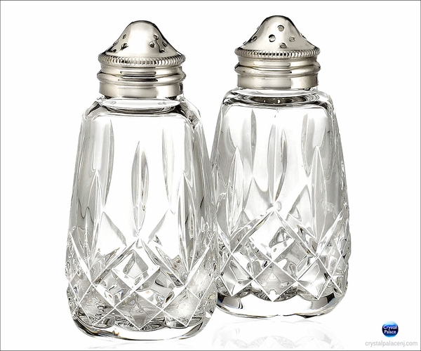 "Waterford Lismore Salt & Pepper 4""H"