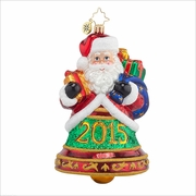 Santa Clapper  Radko Ornament