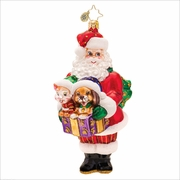 (SOLD OUT)  Santa's Companions Radko  Christmas Ornament