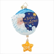(SOLD OUT) Sleepytime Santa Blue   Radko Ornament