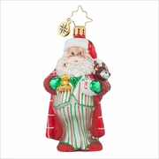(SOLD OUT) Sleepytime Santa Gem  Radko Ornament