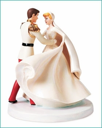 (SOLD OUT)Cinderella & Prince Charming Cake Topper Happily Ever After