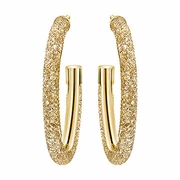 Stardust Deluxe Hoop Pierced Earrings golden