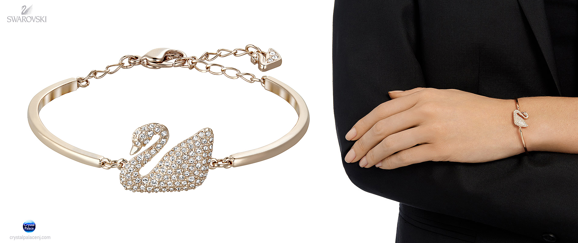 5142752 Swarovski Jewelry Swan Bangle d76022e44c