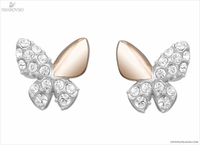 Swarovski Better Butterfly Pierced Earrings