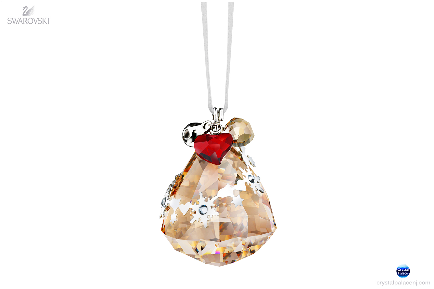 Swarovski Christmas Ornaments Part - 41: (SOLD OUT) Swarovski Christmas Ornament, Crystal Golden Shadow