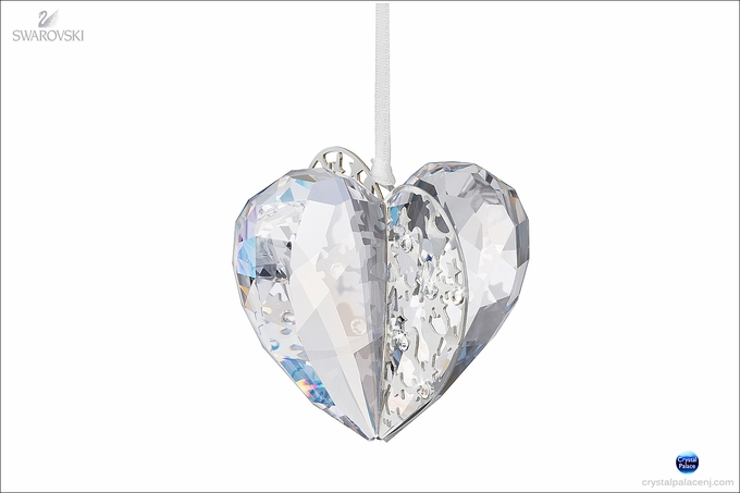 Christmas Ornament Heart, Crystal Moonlight