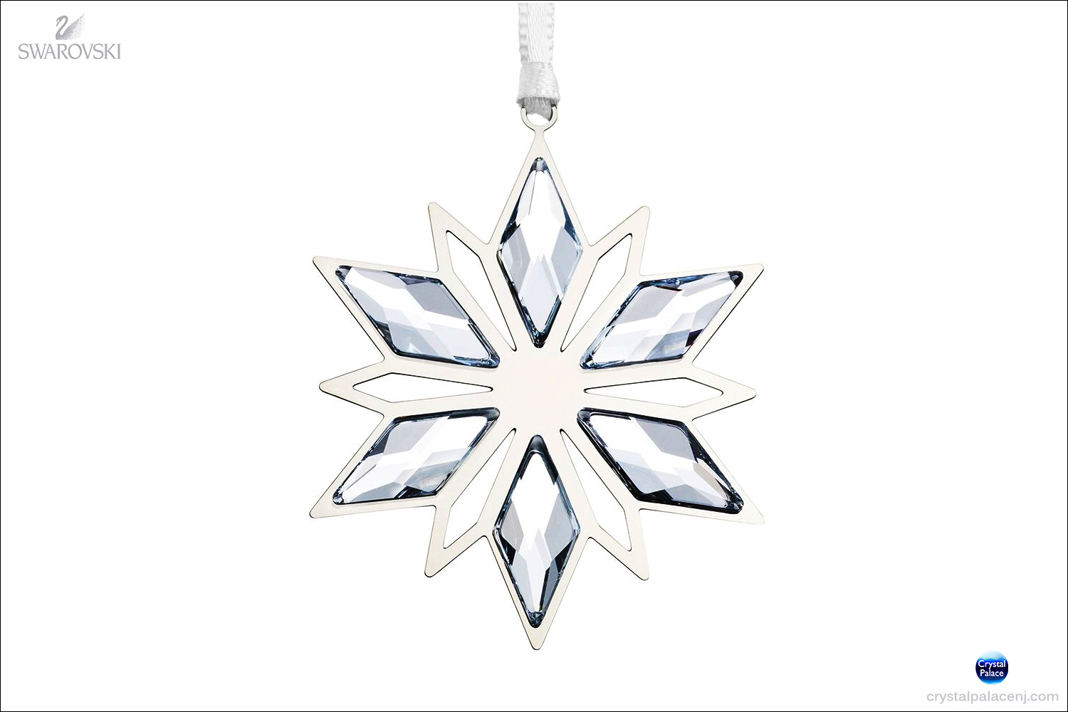 97a18167e (SOLD OUT) Swarovski Christmas Ornament, Silver Star