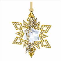 Christmas Ornament Star, Gold tone
