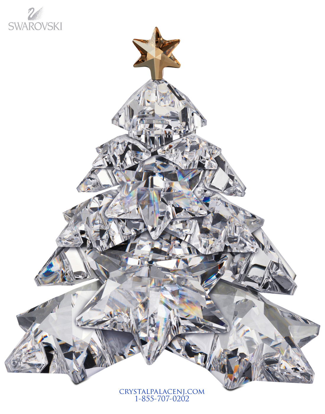 1139998 swarovski christmas tree shinning star - Crystal Christmas Tree