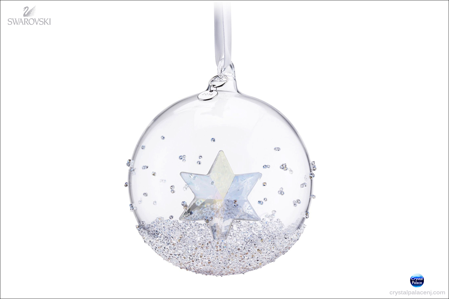 Swarovski crystal christmas ball ornament annual edition