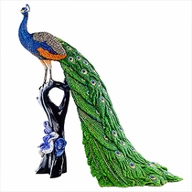 (SOLD OUT)  Swarovski Crystal Myriad Peacock  Mor-Malhar