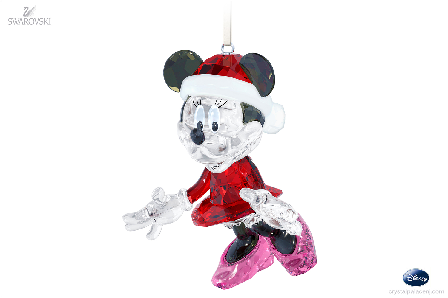 Swarovski disney minnie mouse christmas ornament - Minnie mouse noel ...